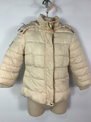 Girls Next Cream Winter Padded Casual Hooded Coat Jacket Kids Age 3/4 Years