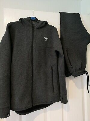 Boys Next Sporty Charcoal Grey Tracksuit Joggers Age 10 - 11 great condition