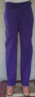 Mock suede straight leg purple pant, size S