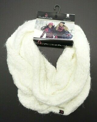 Women's Cuddl Duds Infinity Loop Scarf Ivory Soft Knit Wear 4 Different Ways