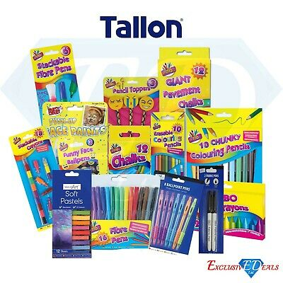 Assorted Colouring Pencils Chunky Erasable Art Soft Full/Half Size Drawing Kids