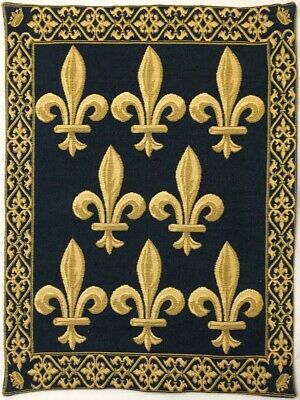 Sword & Crown With Fleur De Lys, Lined Belgian Tapestry With Rod Sleeve, 1066