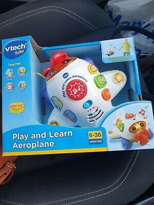 V-Tech Baby - Play And Learn Aeroplane - New And Boxed