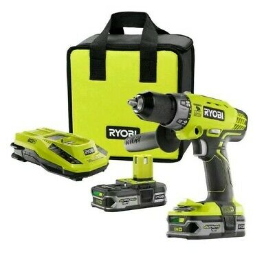 "Ryobi 18-Volt ONE+ Lithium-Ion Cordless 1/2"" Hammer Drill/Driver Kit brand new!!"
