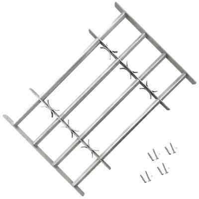 vidaXL Adjustable Security Grille for Windows with 4 Crossbar 1000-1500mm Safe~