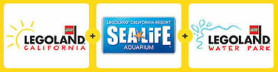 LEGOLAND + SEA LIFE Aquarium + Water Park Resort Hopper Ticket California