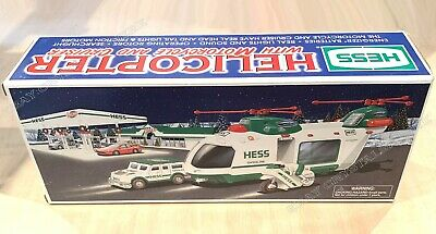 2001 Hess - Helicopter with Motorcycle and Cruiser - New in Box NIB