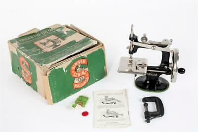 "Vintage ~ c1936 ~ ""Singer 20"" Sewing Machine with Clamp & Box               #443"