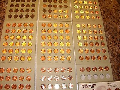 lincoln penny set collection  1909 vdb-2019 p d s wheat cent 's