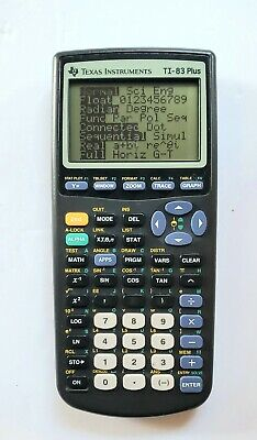 Texas Instruments TI-83 Plus Graphing Calculator with Cover working