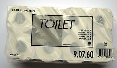 64 Rolls Tork Toilet Paper, Paper 2 Layer Cellulose High White