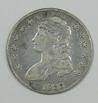 1835 Capped Bust/Lettered Edge Half Dollar FINE Silver 50c