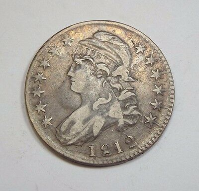 1812 Capped Bust/Lettered Edge Half Dollar EXTRA FINE Silver 50c - Overton O-106