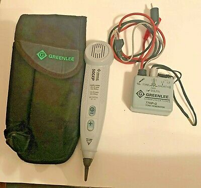 Greenlee Communications 500xp Tone Probe & 77HP-G Tone Generator And Pouch