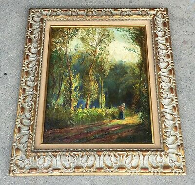 Early 20Th C. Russian / European  Expressionist Oil Painting On Canvas, Signed