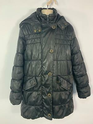 Girls Marks&Spencer Black School Hood Winter Rain Coat Jacket Kids Age 12 Years