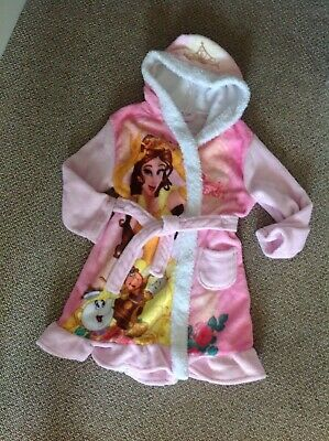 George Disney Beauty and the Beast Pink Dressing Gown Age 5-6 Years.