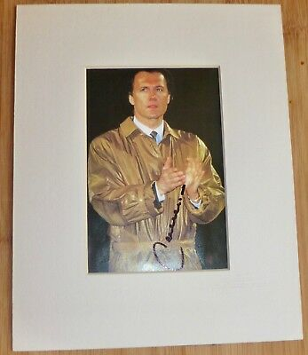 FRANZ BECKENBAUR-Hand Signed & Mounted Photo -With COA-Ready For Your Frame