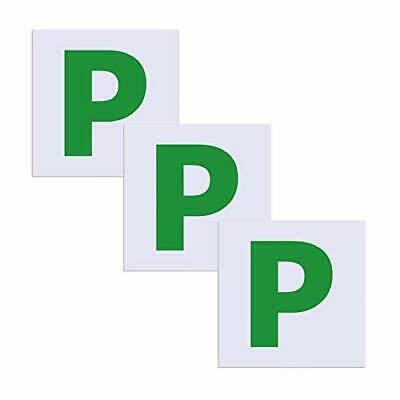 SMALUCK Fully Magnetic Green P Plates 3 Pack, Upgraded Extra Strong Stick On P