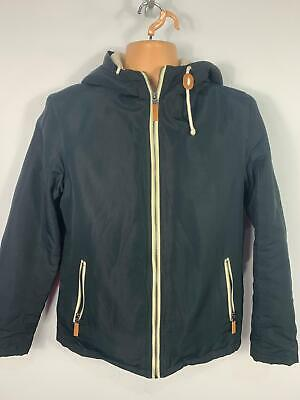 Mens Brave Soul Navy Blue Casual Zip Up Light Weight Hooded Raincoat Size Small
