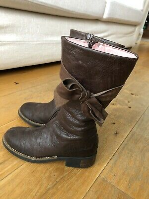 Girls Designer BO-BELL Marie Chantal leather Boots 35EU -WORN ONCE ONLY! RRP£75