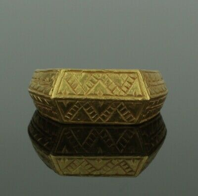 BEAUTIFUL ANCIENT MEDIEVAL HEAVY GOLD RING - CIRCA 13th-15th Century AD