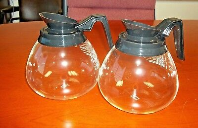 Lot of 2 NEW Coffee Pot/Decanter/Carafe for Commercial BUNN 64 oz. Glass - Black