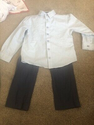 Boys Shirt And Trousers Set 3-4 Years Worn Once