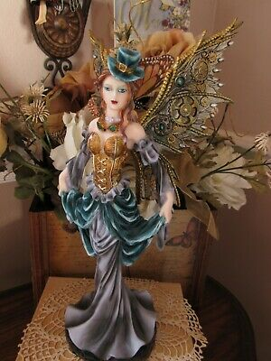 Large 12 inch high STEAMPUNK fairy figurine by Pacific Giftware NEW!