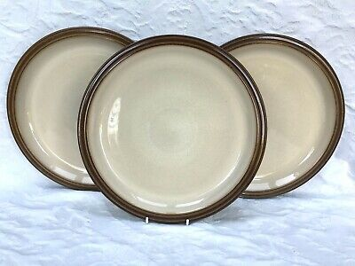 "Denby Pampas Set of 3 x Dinner Plates Plate 10.25"" dia Very Good Condition"