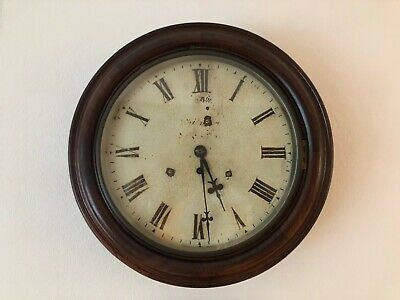 Antique Vintage Pendulum Round Dial Wall Clock
