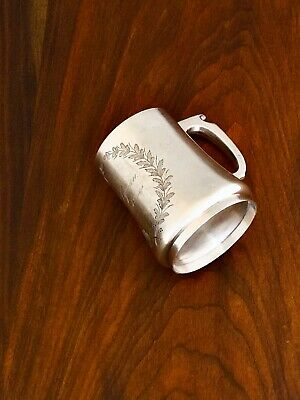 - Superb American Sterling Silver Tankard Style Mug With Gilt Interior