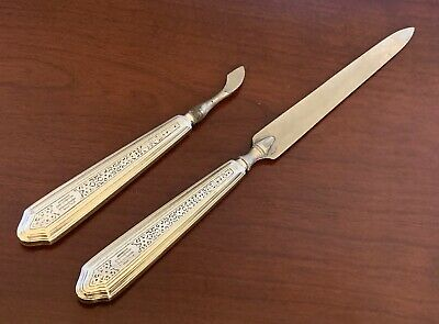 TIFFANY & CO ~Sterling Silver VANITY NAIL FILE CUTICLE TOOL NOUVEAU DECO ANTIQUE