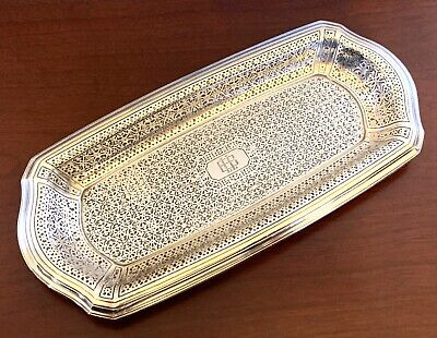TIFFANY & CO~SOLID Sterling Silver VANITY PIN TRAY NOUVEAU DECO ANTIQUE 84 GRAMS
