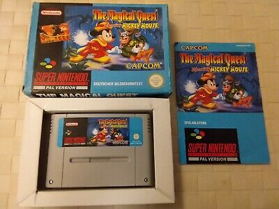 the magical quest mickey mouse super nintendo SNES complete boxed PAL CIB 100%