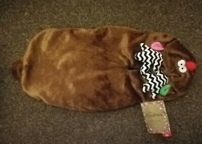 Pets At Home Reindeer Suit Dog Jumper Hoodie Fleece Christmas Outfit Brown Small