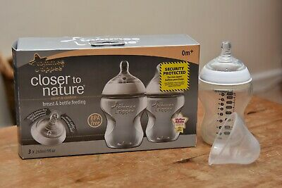 Tommee Tippee Closer to Nature Baby Feeding Bottles Set of 4x260ml – Brand New