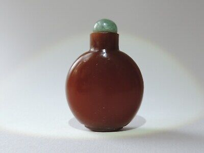Chinese Brown Glass Snuff bottle