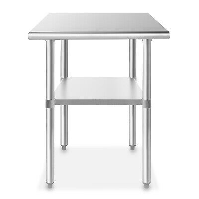 """Stainless Steel 24"""" x 30"""" NSF Commercial Kitchen Prep Work Table"""
