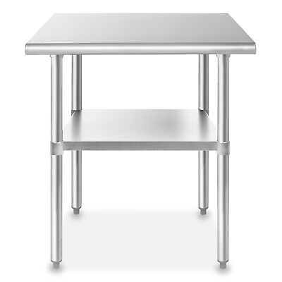 "Stainless Steel 24"" x 36"" NSF Commercial Kitchen Prep Work Table"