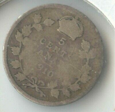 Canada 1910  Five Cent Canadian .925 Silver Nickel - 5c *EXACT* COIN SHOWN