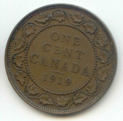 Canada 1919 1 Cent Coin Canadian Large Penny 1c EXACT COIN SHOWN