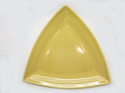 Rare Vtg Tuxton Yellow Triangular Serving Platter/Large Plate Collectible