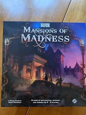 Mansions of Madness 1st Edition Arkham Horror Game Near Mint Free Shipping