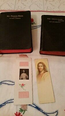 2 Books, Father La Sance,My Prayer Book,1944, Young Man's Guide,1910