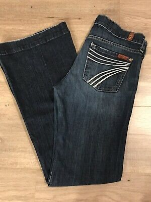 7 Seven For All Mankind Dojo Jeans w/ White Stitching.  Sz. 26