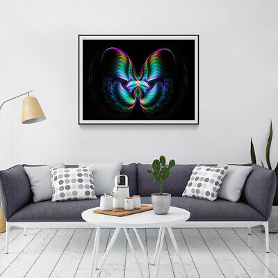 KQ_ AU_ Colorful Butterfly Diamond Painting DIY Embroidery Cross Stitch Home Dec