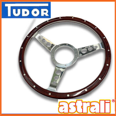 Classic Wood Steering wheel 14 inch Semi dished By Astrali