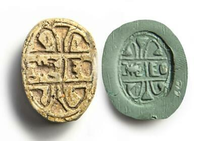 Egyptian  Scarab with Royal cartouche of Thutmosis III ex Mustaki collection.