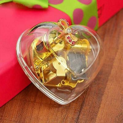 Heart Shape Clear Acrylic Music Box Gorgeous You Are Sunshine Gift Box Musi I8V7